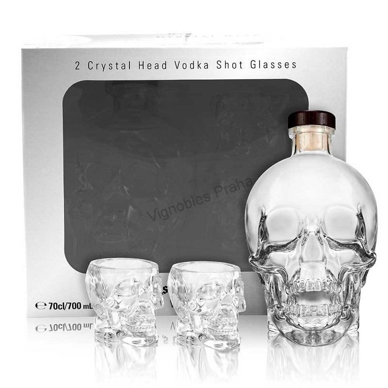 Crystal Head vodka gift box a sklenička