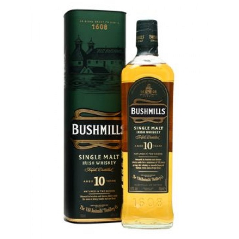 Bushmills 10 Year Old Single Malt Irish whiskey 0,7
