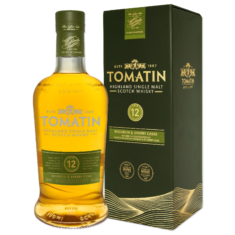 Tomatin 12 Year Old whisky 0,7