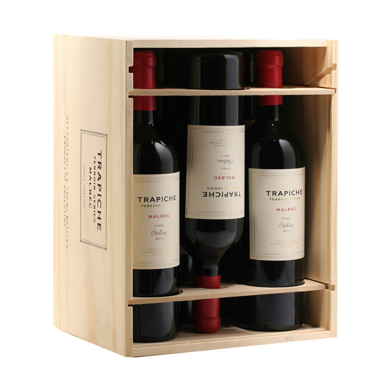 Dřevěný box Trapiche Malbec 6x Single Vineyard