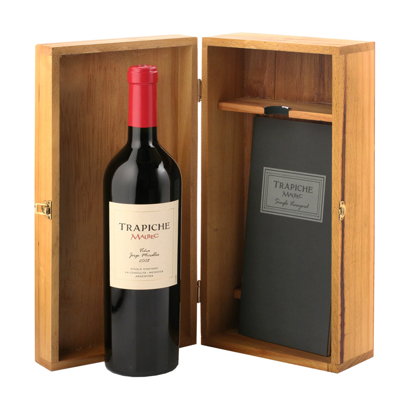 Trapiche Malbec Single Vineyard, Dřevěný box s vínem 0,75l